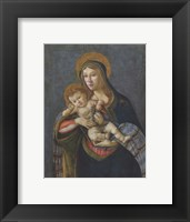 Framed Madonna and Child with the Crown of Thorns and Three Nails