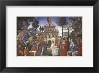 Framed Temptation of Christ, 1481-1482