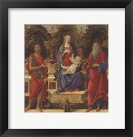 Framed Enthroned Madonna with Child and Saints