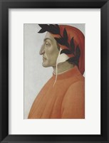 Framed Portrait of Dante Alighieri