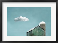 Framed Green Barn and Cloud