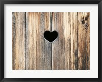 Framed Heart in Wood