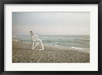 Framed Lifeguard Chair at Dawn