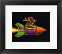 Framed Rocket Dog