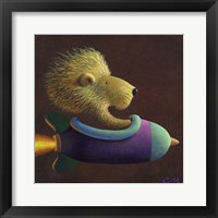 Framed Rocket Lion