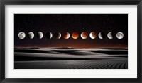 Framed Blood Moon Eclipse