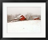 Framed Union Co. Barn & Snow