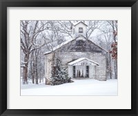 Framed Vintage Church