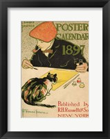 Framed R.H. Russell & Son Calendar, 1897