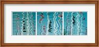 Framed American Blue Triptych