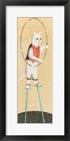 Framed Cat on Stilts