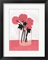 Framed Poppy Vase