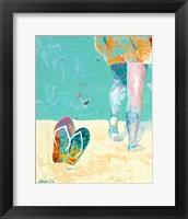 Framed Flip Flops on the Beach