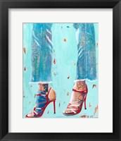 Framed Red Heels