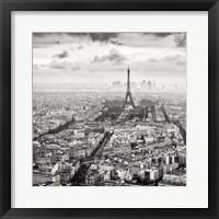 Framed La Tour Eiffel et La Defense
