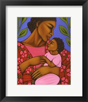 Framed African Mother and Baby