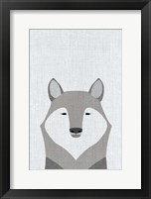 Framed Gray Wolf