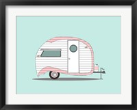 Framed Pink Stripe Teardrop
