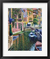 Framed Romantic Canal