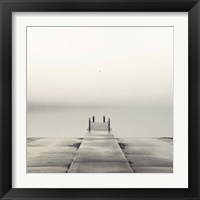 Framed Pier and Seagull