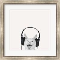 Framed Rockin' Kitten