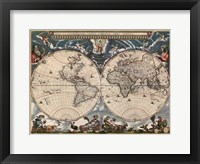 Framed Nova et Accuratissima Totius Terrarum Orbis Tabula