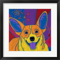 Framed Joyful Corgi