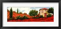 Framed I Papaveri Sulle Colline