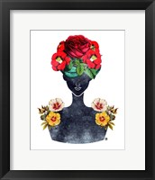 Framed Flower Crown Silhouette III