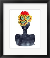 Framed Flower Crown Silhouette IV