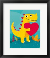Framed Dino Love