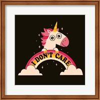Framed Unicorn Don't Care
