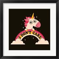 Framed Unicorn Don't Care
