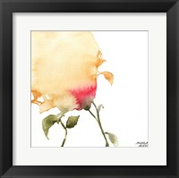 Framed Watercolor Floral Yellow and Red I