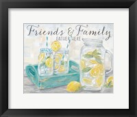 Framed Friends and Family Country Lemons Landscape