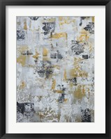Framed Silver Gray Gold Abstract