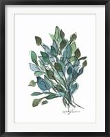Framed Blue Green Leaves