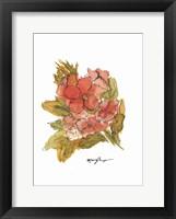 Framed Coral Floral