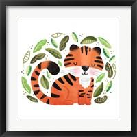 Framed Safari Cuties Tiger
