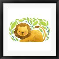 Framed Safari Cuties Lion