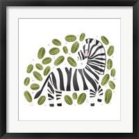 Framed Safari Cuties Zebra