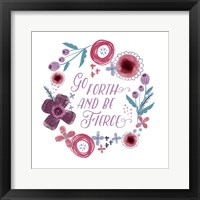 Fierce Girl I Fierce Framed Print