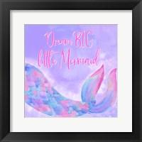 Framed Mermaid Life I Pink/Purple