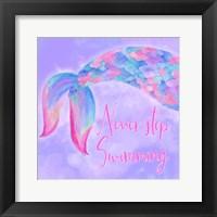 Framed Mermaid Life II Pink/Purple