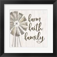 Framed Farm Life III Farm Faith Family