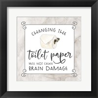 Framed Bath Humor Toilet Paper