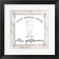 Framed Bath Humor Remain Seated