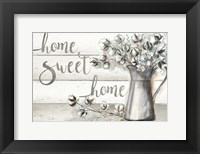 Framed Farmhouse Cotton Home Sweet Home