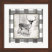 Framed Buffalo Check Deer Neutral I