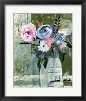 Framed Modern Floral Circle